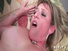 Chubby french cougar gets ass fucked by a young big dick