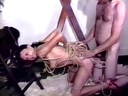 French Mature - TIED UP BRUTALLY FISTED & ASSFUCKED