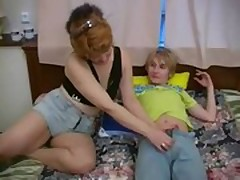 Russian Lassie Fucks Step-Mom