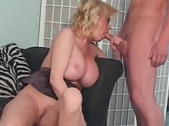 Sensual MILF Slut Caroline Fucks Son