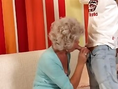 Granny in slay rub elbows with matter of Glasses Fucks slay rub elbows with Young man