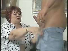 Chunky Granny hither Wan Stockings Fucks