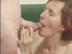 Anorexic Granny close by Stockings Fucks a Urchin