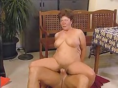 Fit Granny Tries Both Holes