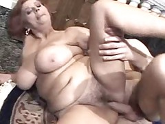 Busty Granny Luvs Cock