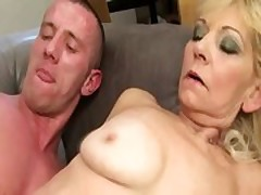 Granny pussy getting blasted with cock
