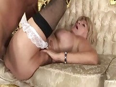 Horny granny loves to ride cock hard