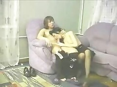 Amateur Russian Mama coupled at hand young man