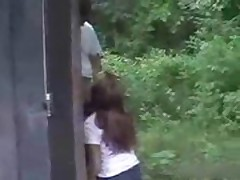 Brother tricks sister to suck cock