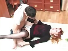 Mature mom Fucks Her Young son