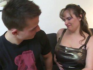 The boy drilled a mom hard