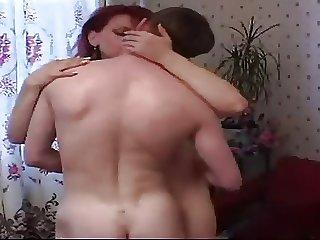 Redhead mom and boy