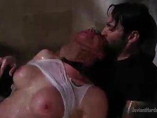Chanel Preston rough shower sex