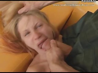 Worker abused a blonde milf