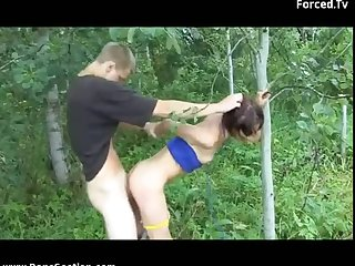 Babe abused in the wood