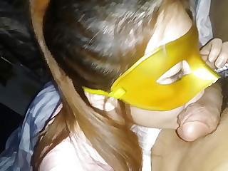 Masked slut fucking a lot