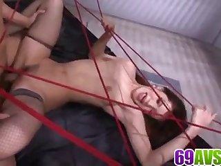 Mei Haruka acts nasty during serious Japanese bondage