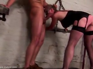 stepmother fucked in all holes and creampied in final