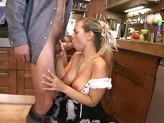 Hunk shoves his huge rod into blonde's asshole