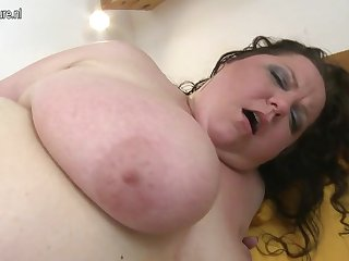 Big busty mature mother fucked by young boy