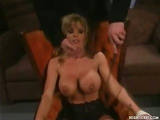 Busty blonde is bound