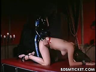 Chick is whipped over ass