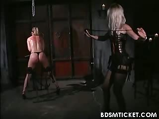 Slave girl takes a whipping