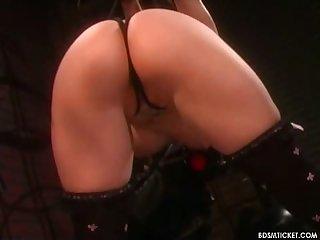 Flogging round ass