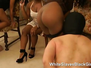 This ladies like to have two slaves