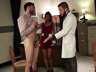 Nikki Darling makes her tiny-dick husband taste her pussy