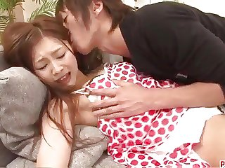 Suzuka Ishikawa screams with a big dick in her