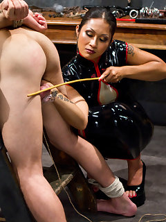 <!–-IMAGE_COUNT-–> of The seductive domina tormented and fucked a slaveboy