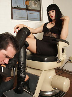 12 of Mistress O loves submission from her boot slave