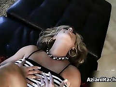 Busty blonde milf goes crazy fingering
