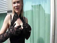 Blonde mature Anita gets few dicks in all holes