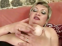 she has a nasty time as she toys her vag
